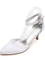 Femme Chaussures de mariage Mary Jane D'Orsay & Deux Pièces Escarpin Basique Bride de Cheville Confort Satin Printemps EtéMariage Soirée