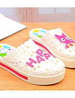 Women's Slippers & Flip-Flops Comfort Summer PU Casual White Green Blue Blushing Pink Flat