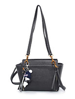 Women Bags All Seasons PU Shoulder Bag with for Casual Outdoor Black