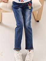 Jeans Da ragazza Cotone Geometrico Cartoni animati Per tutte le stagioni