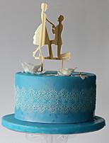 Украшения для торта Классическая пара Высокое качество Для вечеринок Особые случаи Пластмассовая сумка