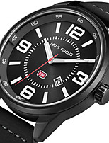 MINI FOCUS Men's Sport Fashion Watches Wristwatch Luxury Waterproof Quartz Calendar Genuine Leather Band Clock Relogio Masculino Hombre