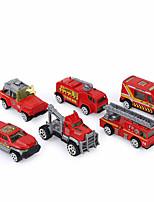 Пожарная машина Экипаж Игрушки на солнечных батареях 1:64 Пластик Алюминиевый сплав, углерод