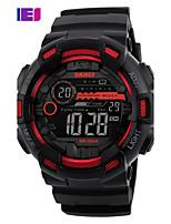 SKMEI Муж. Спортивные часы электронные часы Японский КварцевыйLED Календарь Защита от влаги С двумя часовыми поясами тревога Хронометр