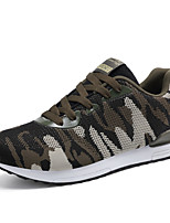 Men's Sneakers Comfort Light Soles Summer Fall Tulle Running Shoes Casual Outdoor Flat Heel Army Green Flat
