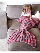 Tricotado,Fios Tingidos Natureza Lã / Algodão cobertores