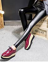 Women's Medium PU Legging,Solid