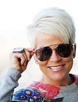 Новые модные креативные косые бахромы короткие прямые волосы человеческие волосы парики