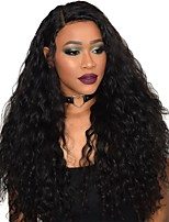 180% Density Water Wave Natural Black Color 360 Lace Wigs High Quality Unprocessed Human Hair 360 Lace Front Wigs