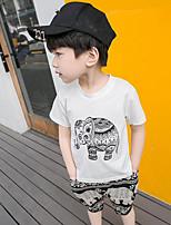 Boys' Print Sets,Cotton Summer Clothing Set