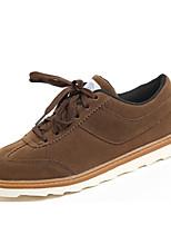 Da uomo Sneakers Suole leggere Cuoio Autunno Inverno Casual Footing Marrone scuro Grigio scuro Cachi 2,5 - 4,5 cm