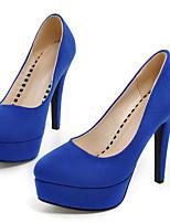 Mujer Tacones Confort Primavera PU Casual Negro Rojo Azul 7'5 - 9'5 cms