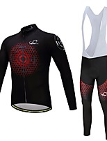 Cycling Jersey with Bib Tights Unisex Long Sleeves Bike Clothing Suits Thermal / Warm Thick Polyester LYCRA® Silicon Fleece Winter