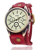 XU Neutral Vintage Leather Belt Casual Bracelet Watch
