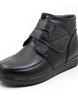 Для женщин Ботинки Удобная обувь Полиуретан Зима Повседневные Черный На плоской подошве