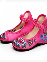 Girls' Shoes Fabric Summer Comfort Sandals For Casual Peach Red Green