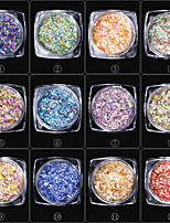 12PCS The New 7 Colour Broken Snow Sequins GSP-50