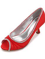 Femme Chaussures de mariage Confort Escarpin Basique Satin Printemps Eté Mariage Habillé Soirée & EvénementStrass Paillette Brillante Pan