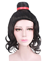 Halloween Cosplay Party Wig Heat Resistant Black Color Custome Wig New Design