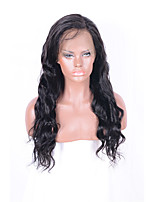 Fashion Natural Long Wavy Lace Front Wigs with Baby Hair 130% Density for Women 100% Brazilian Human Hair Natural Black Color Wigs