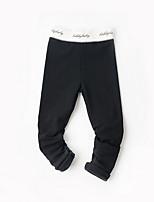 Pantaloni Da ragazza Tinta unita Autunno