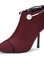 Feminino Botas Caminhada Conforto Inovador Plataforma Básica Botas da Moda Curta/Ankle Coturnos Solados com LuzesPele Nobuck Materiais