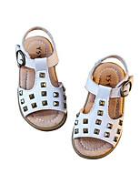 Girls' Sandals Comfort Cowhide Summer Casual Blushing Pink White Flat