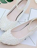Women's Wedding Shoes Slingback Lace PU Spring Fall Wedding Office & Career Party & Evening Dress Applique Beading Imitation Pearl Flower