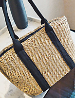 Women Bags All Seasons Straw Tote with for Wedding Event/Party Casual Formal Office & Career khaki