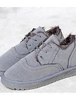 Women's Boots Comfort Snow Boots Summer PU Casual Black Gray Green Flat