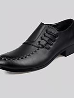 Men's Oxfords Formal Shoes Comfort PU Spring Summer Office & Career Party & Evening Formal Shoes Comfort  Flat Heel Black1in-1