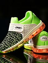 Garçon Chaussures d'Athlétisme Chaussures Lumineuses Tulle Printemps Automne Athlétique Décontracté Scotch Magique Talon PlatVert