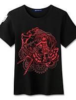 Inspirado por Date A Live Fantasias Anime Fantasias de Cosplay Cosplay T-shirt Desenhos Animados Manga Curta Blusa Para Unisexo