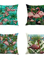 4 штук Хлопок/Лён Фламинго Новинки Мода тропический Cool Новое поступление Высокое качество Modern Ретро Неоклассицизм Барроко