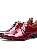 Для мужчин обувь Лакированная кожа Весна Осень Формальная обувь Обувь для дайвинга Туфли на шнуровке Шнуровка Назначение Свадьба