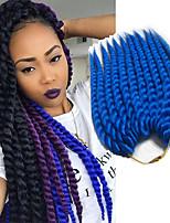 Спиральные плетенки Гавана Косы в технике Кроше 100% волосы канеколон Клубничный блондин Medium Auburn Фиолетовый Вино СинийНаращивание