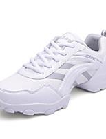 Для мужчин Танцевальные кроссовки Тюль С цельной подошвой Учебный На низком каблуке Золотой Белый Серый Менее 2,5 см