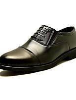 Для мужчин Туфли на шнуровке Удобная обувь Светодиодные подошвы Формальная обувь Искусственное волокно Осень ЗимаСвадьба Повседневные Для