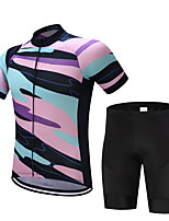 Cycling Jersey with Bib Shorts Men's Short Sleeves Bike Shorts Shirt Sweatshirt Jersey Tops Quick Dry Moisture Permeability Lightweight