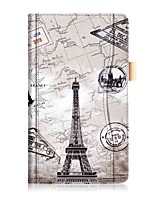 Картина картины pu кожаный чехол с ручным канатом для lenovo tab 4 8 (tb-8504fn) 8,0-дюймовый планшетный ПК