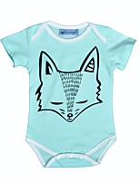 Baby Romper Animal print Print One-Pieces Cotton Summer Short Sleeve Fox Boys Girls Kids Jumpsuits Bodysuits
