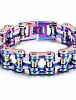 Kalen Colorful Bike Chain Bracelets For Men High Quality Stainless Steel Motorcycle Link Chain Bracelets & Bangles Gay Pride Accessories Jewelry