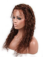 Glueless Lace Front Human Hair Wigs Unprocessed Virgin Brazilian Hair Medium Brown Color Curly  Lace Wig For Black Women