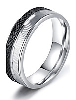 Men's Band Rings AAA Cubic Zirconia Basic Hip-Hop Gothic Classic Costume Jewelry Fashion Vintage Titanium Steel Circle Jewelry For Party