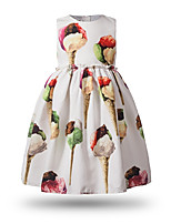 Girl's Cartoon Dress,Cotton Spring Summer Sleeveless
