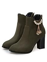 Feminino Botas Caminhada Conforto Botas da Moda Curta/Ankle Solados com Luzes Materiais Customizados Outono InvernoCasamento Casual