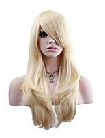 Mujer Pelucas sintéticas Sin Tapa Largo Ondulado Natural Dorado claro Peluca natural Las pelucas del traje