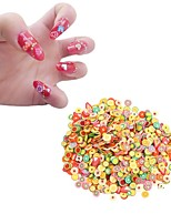 New 1000pcs/pack Nail Art 3D Fruit Fimo Slices Polymer Clay DIY Slice Decoration Nail Sticker