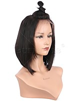New Style Silky Straight Short Bob Wig Virgin Brazilian Human Hair Glueless 13x6 Deep Parting Lace Front Wig