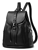 Women Backpack PU All Seasons Casual Barrel Toggle Black